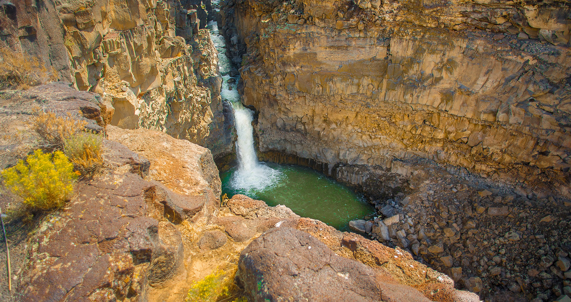 a waterfall in Malad Gorge