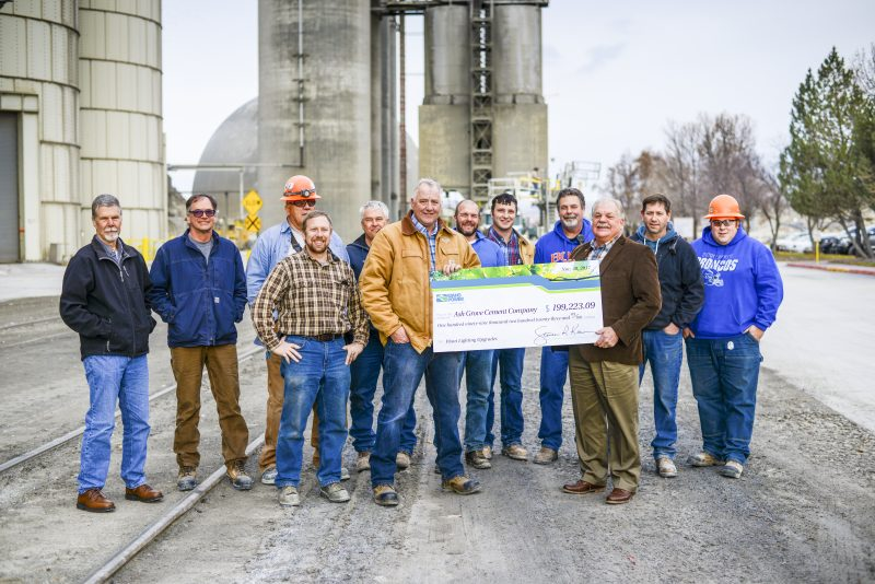 check presentation to Ash Grove Plant Manager Terry Kerby