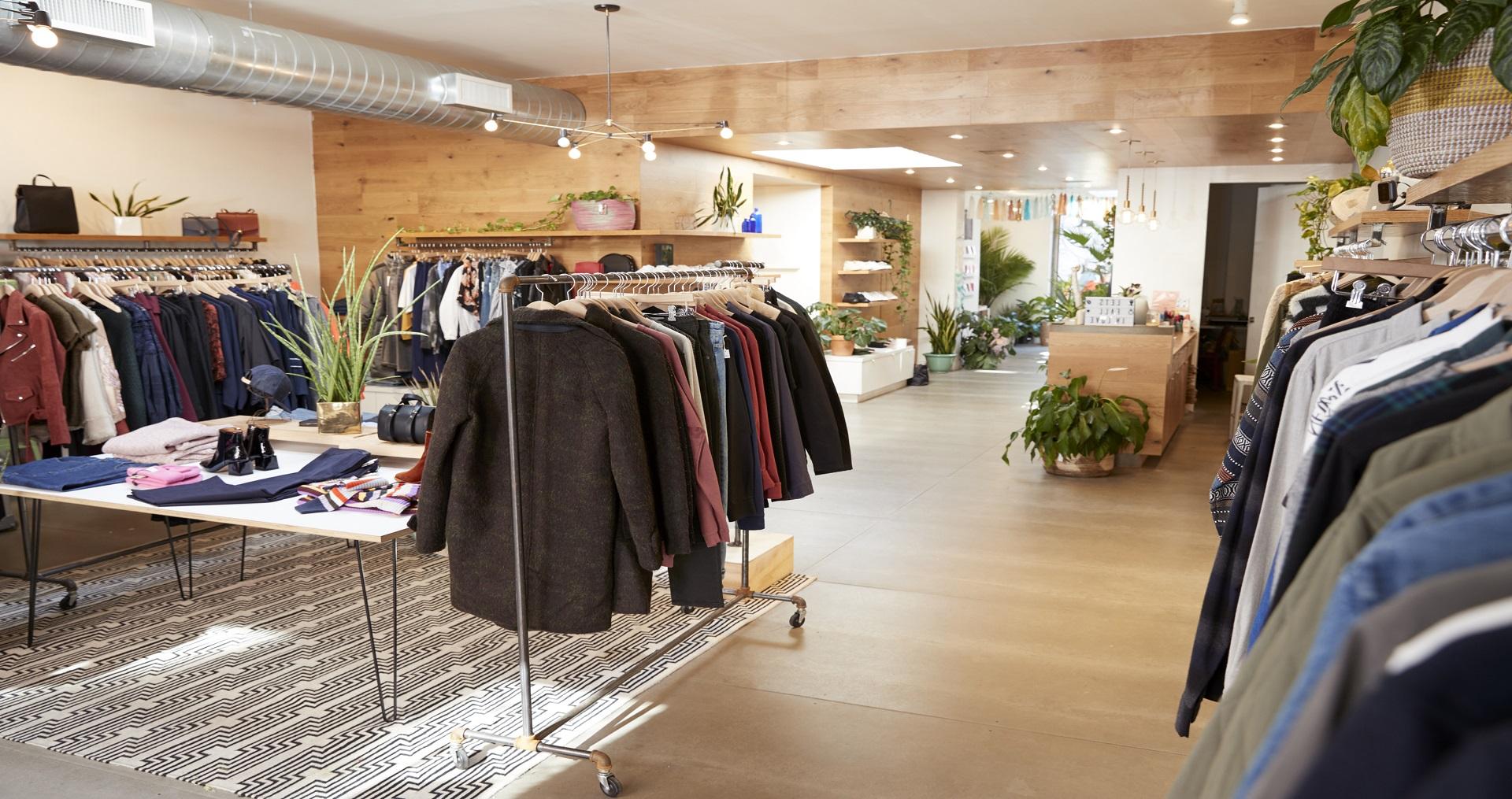 Clothes shop interior