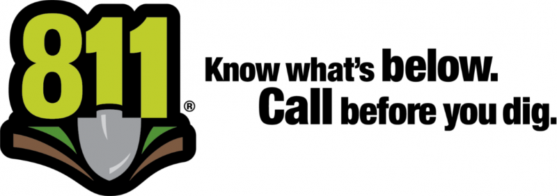 Dig line logo (Know what's below. Call before you dig. 811)