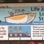 life jacket loaner station sign
