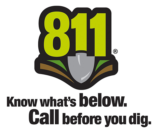 811 Know what's below call before you dig