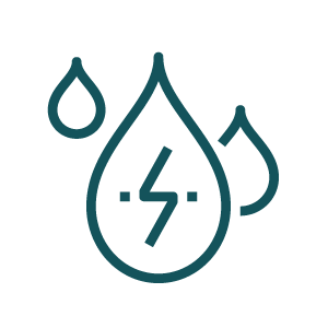icon of water droplets