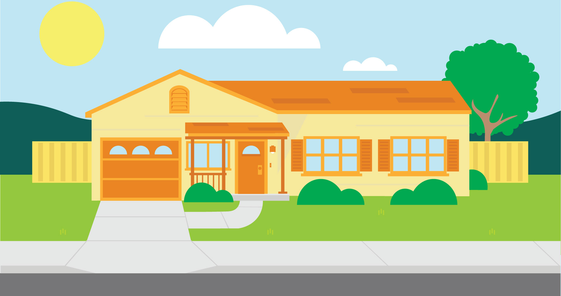 vector graphic of a home