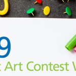 2019 Student Art Contest Winners Announced image of scissors and pens