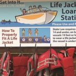 life_jacket_loaner_station_sign_with_life_jackets
