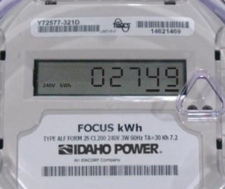 example of an Idaho Power Focus meter