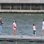 people fishing at Swan Falls