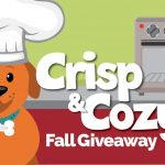 Crisp and cozy fall giveaway image of dog Wattson