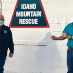 Idaho Power presents a donation to Idaho Mountain Search and Rescue Unit