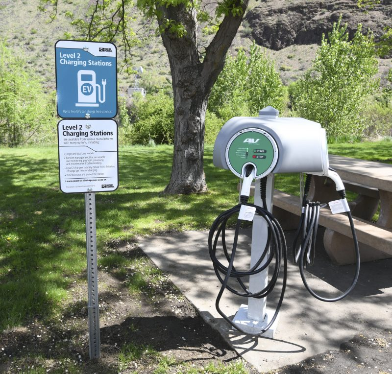 Photo of our Copperfield EV charging station